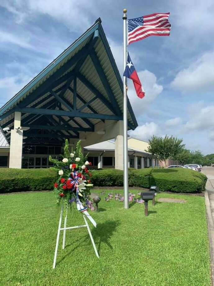 The Monty Ballard YMCA will live stream its Memorial Day ceremony on Facebook. This photo is from last year's ceremony. Photo: Courtesy Of The Monty Ballard YMCA
