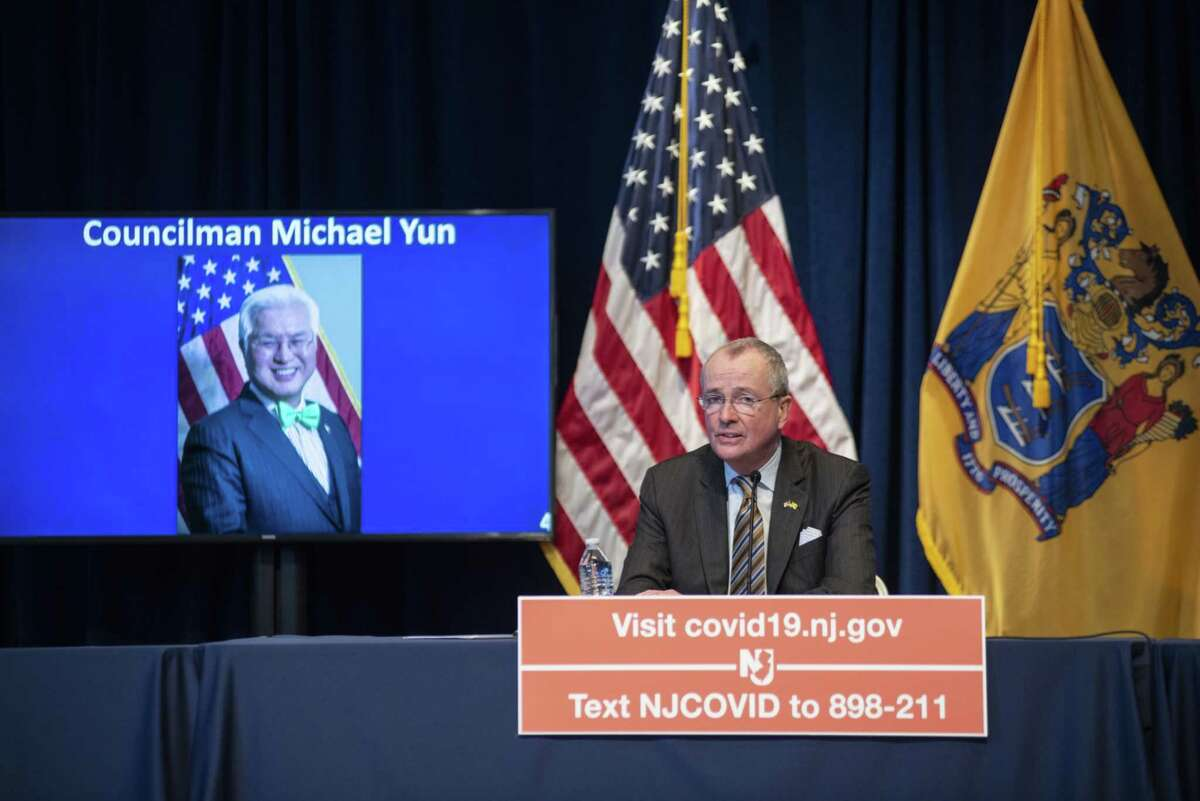 New Jersey Gov. Phil Murphy during a news conference in Trenton, N.J., on April 6, 2020.