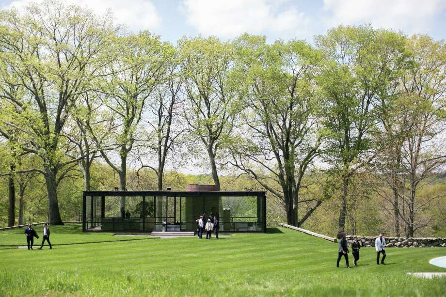 Philip Johnson's Glass House property in New Canaan. Photo: Neil Landino