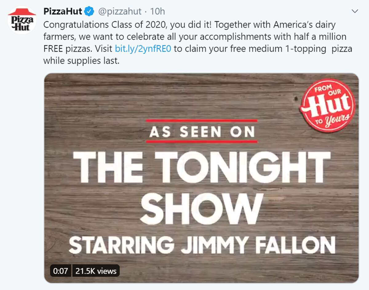 Jimmy Fallon debuted the announcement on The Tonight Showhighlighting the celebration of all graduate's accomplishments with free pizza.