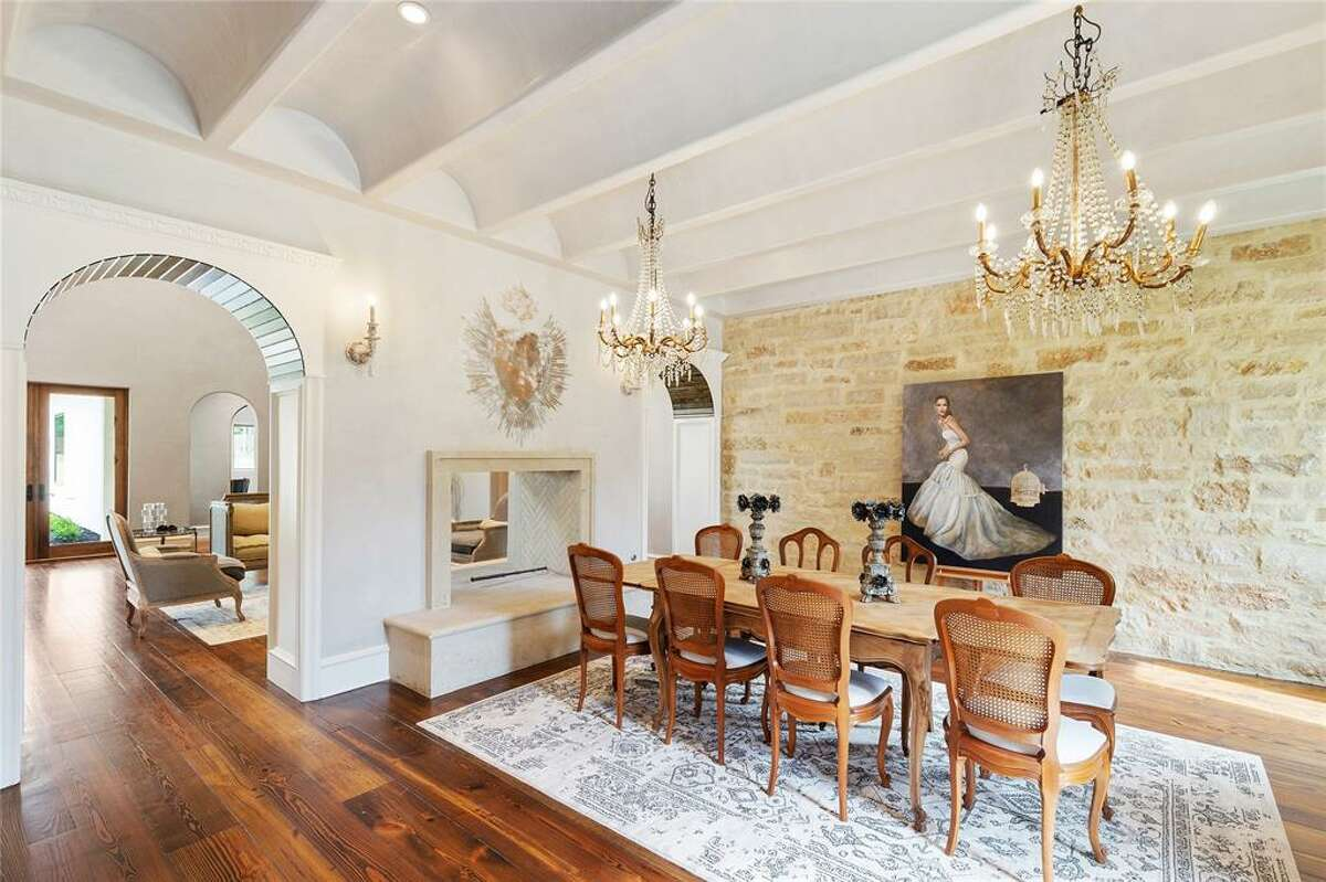 Situated over five acres, the 14,400-square-foot home offers eight bedrooms and nine bathrooms.