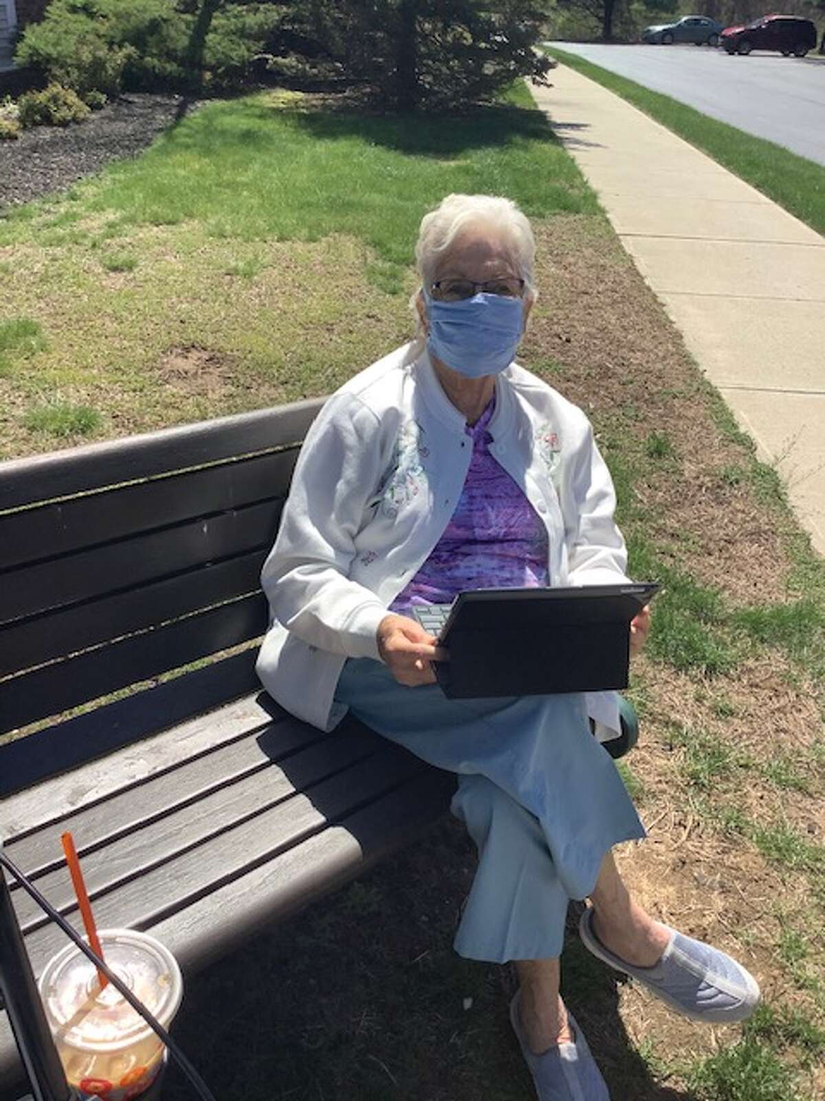 Glenmont's Ruth Pupke on her e-reader, a tool she learned to use well before the coronavirus pandemic