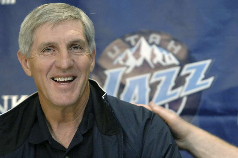 FILE - In this May 12, 2005, file photo, Utah Jazz coach Jerry Sloan smiles during a news conference in Salt Lake City. The Utah Jazz have announced that Jerry Sloan, the coach who took them to the NBA Finals in 1997 and 1998 on his way to a spot in the Basketball Hall of Fame, has died. Sloan died Friday morning, May 22, 2020, the Jazz said, from complications related to Parkinson's disease and Lewy body dementia. He was 78. (AP Photo/Fred Hayes, File) Photo: Fred Hayes, Associated Press