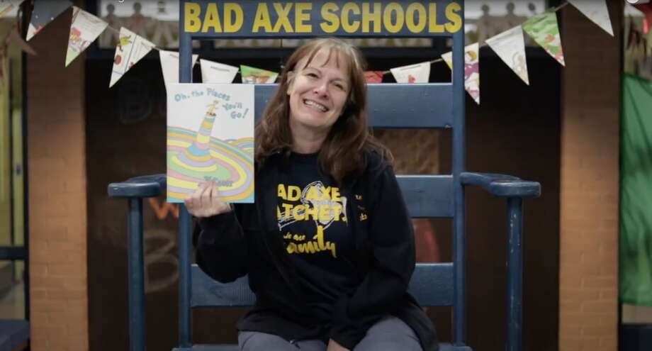 Bad Axe Elementary School Principal Sharon Brighton and her staff have a heartfelt message for the graduating class of 2020. Photo: Screenshot Of YouTube Video