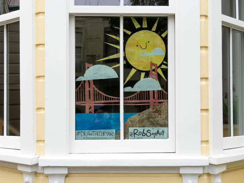 As a children's book illustrator, Sayegh said he's inspired by elements of surprise and creativity in his daily life and wanted to figure out a way to keep that alive not just for himself, but for his neighborhood. His partner suggested putting some drawings up in their windows.