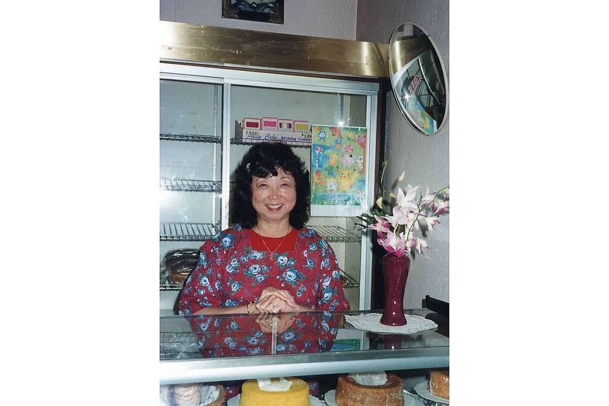 Hatsy Yasukochi at the counter of Yasukochi's Sweet Stop.