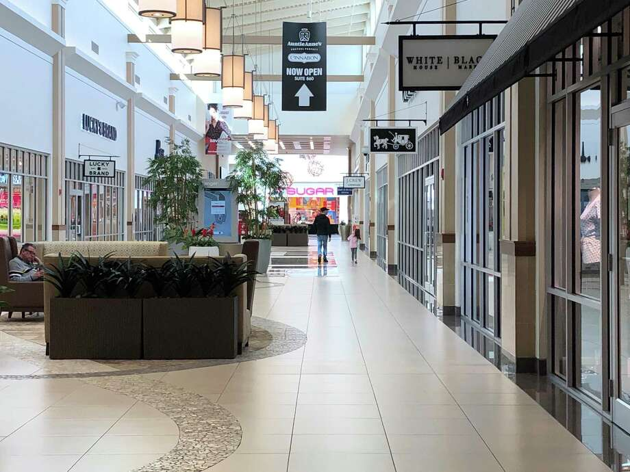 The Tanger Mall area, which is open during phase one of the plan, beginning June 1. Photo: Liz Teitz /