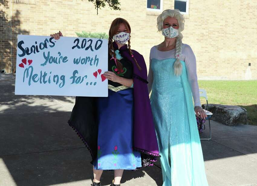Northside ISD has shared photos of seniors picking up their cap and gown. The coronavirus pandemic has altered graduation plans, but the school district has tried to make it as memorable as possible.
