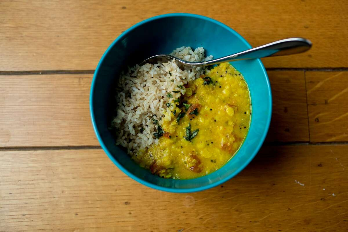 Writer Leena Trivedi-Grenier's toor dal in her home on March 5, 2020 in Oakland, California.