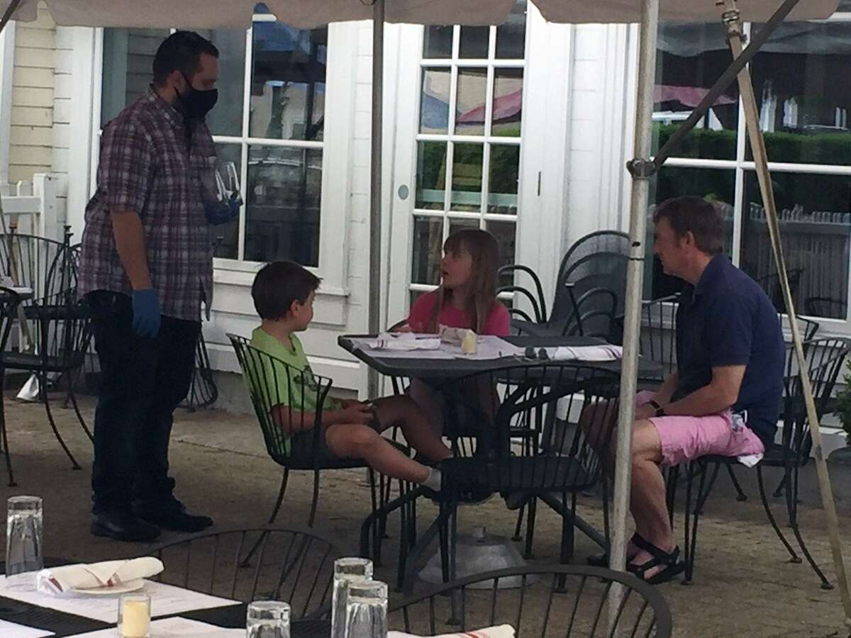 Marly's restaurant in Wilton is offering outside dining under a tent.