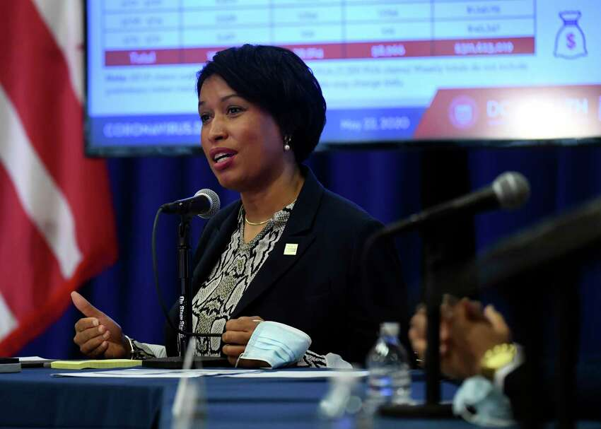 D.C. Mayor Muriel E. Bowser at a news conference Friday.