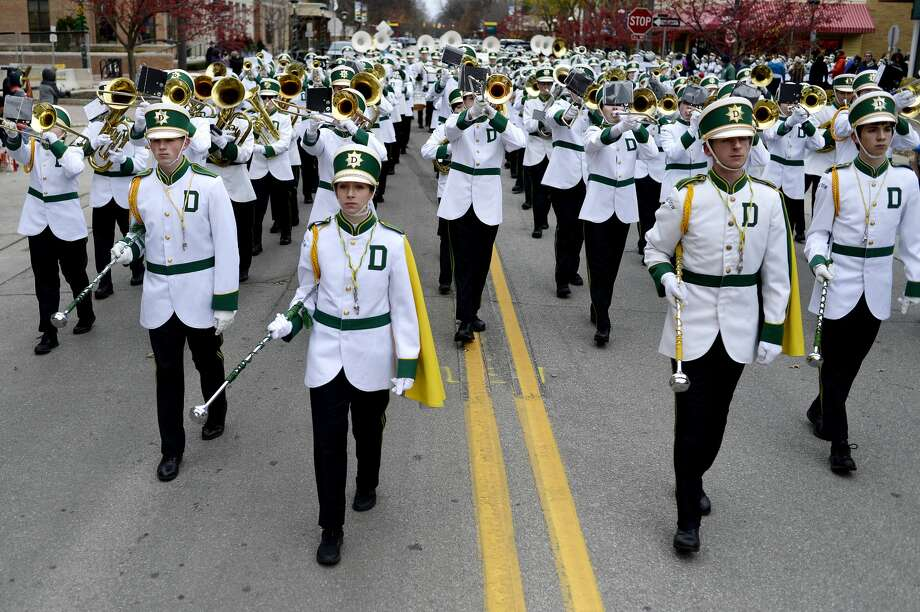 Dow High's marching band performs during the Nov. 21, 2016 Santa Parade in downtown Midland. Photo: Daily News File Photo