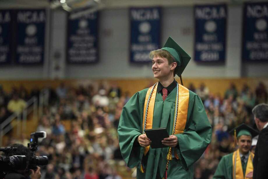 New Milford High School 2018 Graduation, Saturday June 23, 2018, at The O'Neil Center, Western Connecticut State University, Danbury, Conn. Photo: H John Voorhees III / Hearst Connecticut Media / The News-Times