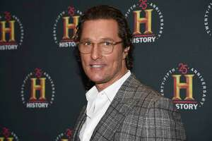 """Matthew McConaughey attends A+E Network's """"HISTORYTalks: Leadership and Legacy"""" in New York. McConaughey appeared on Fox News Tuesday and asked for more common sense and less politics in the face of the novel coronavirus crisis."""