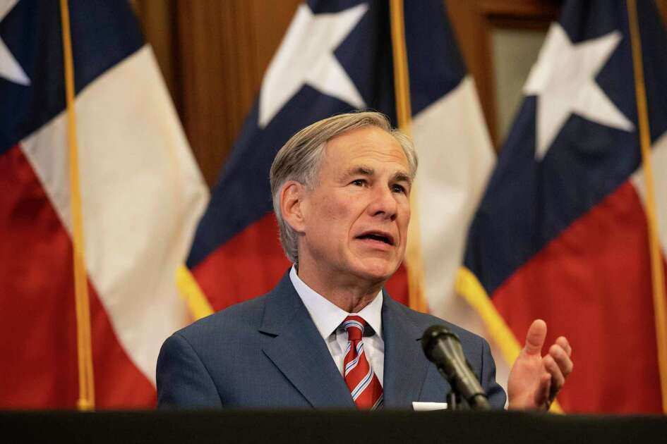Texas Governor Greg Abbott announces the reopening of more Texas businesses during the COVID-19 pandemic at a press conference at the Texas State Capitol in Austin on Monday, May 18, 2020. (Lynda M. Gonzalez/The Dallas Morning News Pool)