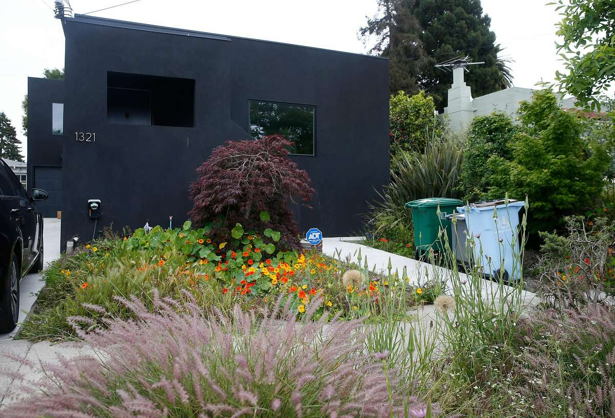 A house is painted black at 1321 Ordway Street in Berkeley, Calif. on Wednesday, May 20, 2020.