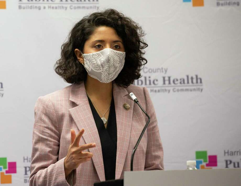 Harris County Judge Lina Hidalgo, shown here in May 2020, issued a new mask order for the county on June 19. Photo: Yi-Chin Lee, Houston Chronicle / Staff Photographer / © 2020 Houston Chronicle