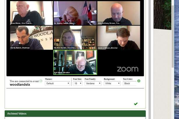 The Woodlands Township Board of Directors met once again via 'Zoom' online video conference technology on May 21. The board decided to not move forward with a proposal to create a board member vacancy appointment policy. The issue was raised after the quick appointment of Jason J. Nelson on April 16 to replace former director Brian Boniface.
