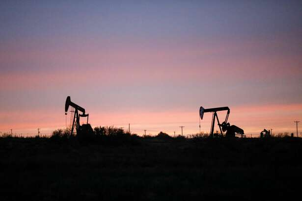Pumpjacks at sunset photographed March 2, 2020 near Loving, New Mexico, in the Permian Basin. MANDATORY CREDIT: The Oilfield Photographer, Inc.