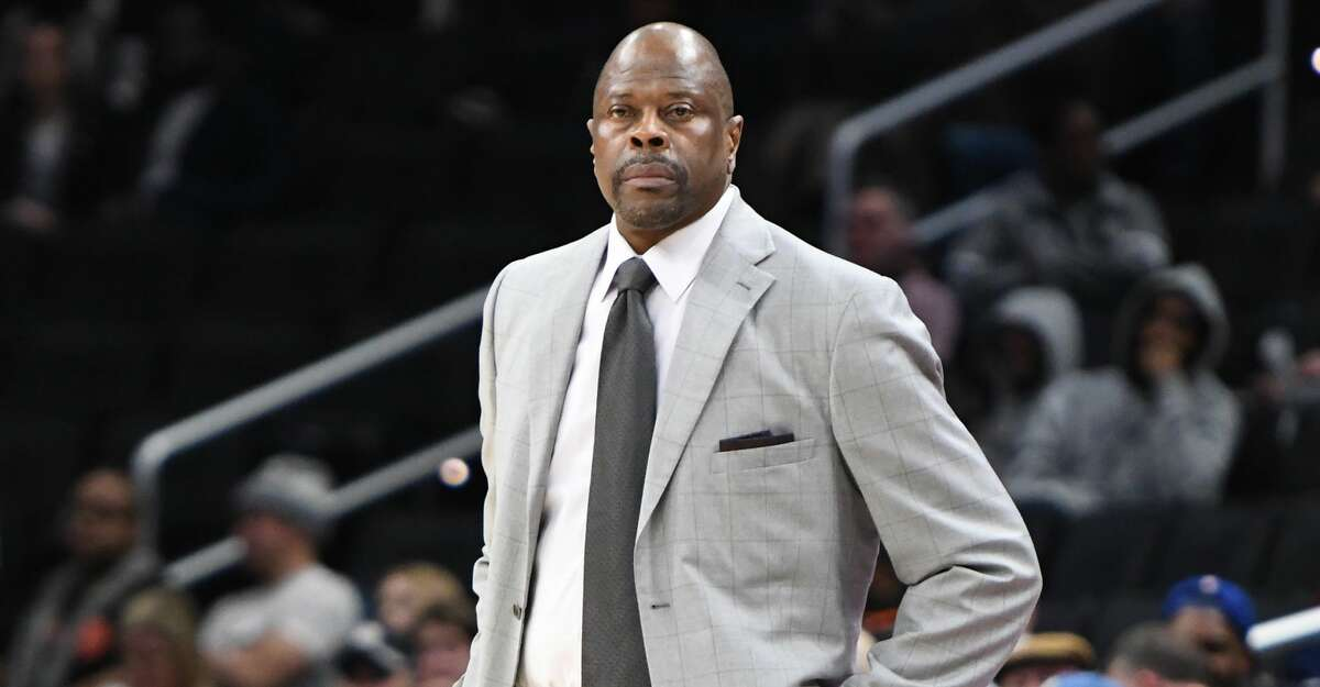 Head coach Patrick Ewing of the Georgetown Hoyas looks on during a college basketball game against the Providence Friars at the Capital One Arena on February 19, 2020 in Washington, DC. (Photo by Mitchell Layton/Getty Images)