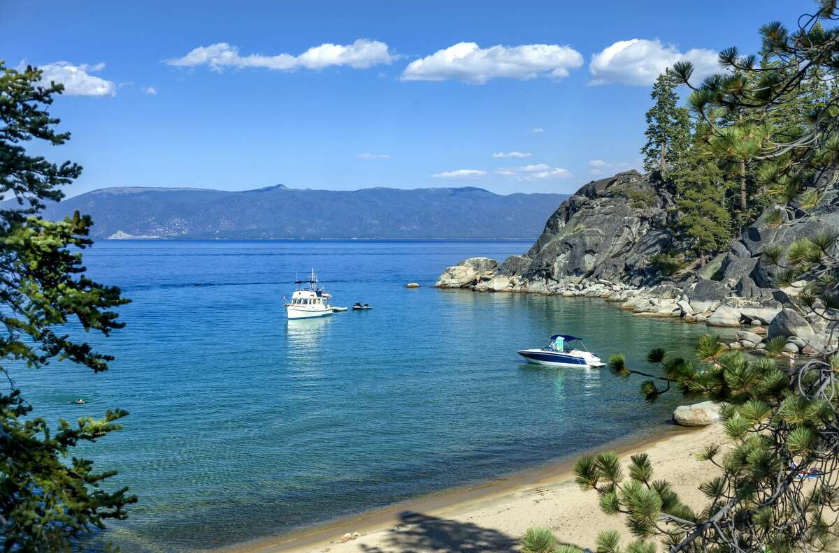 FILE - A statewide travel ban prohibits travelers from visiting Lake Tahoe.