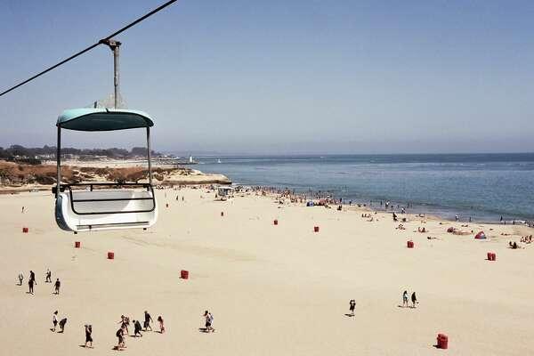 Cable car view of Santa Cruz beach