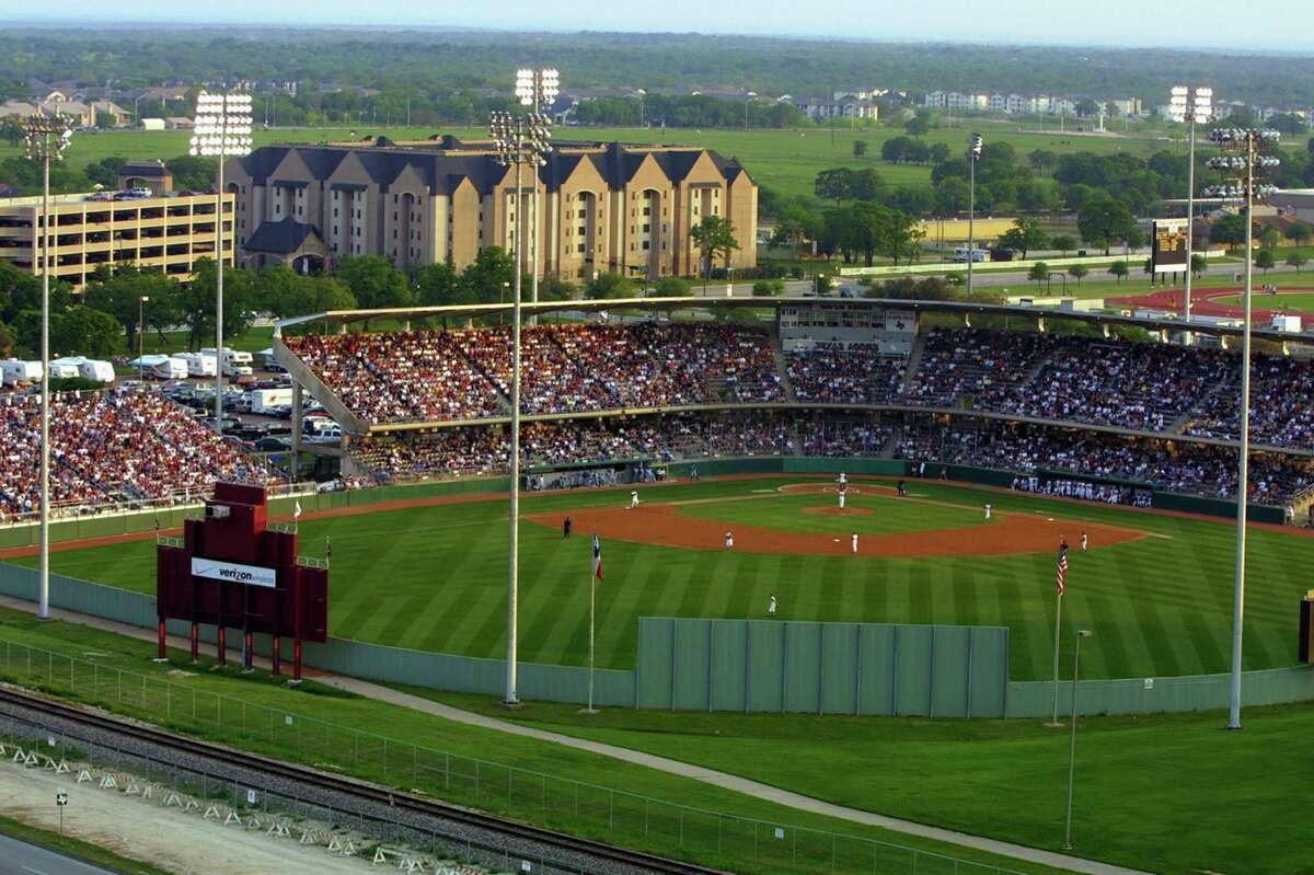 COLLEGE STATION, TX - CIRCA 2005: A general view of Olsen Field which is home of the Texas A&M Aggies Baseball team in Colelge Station, Texas. Photo by Texas A&M/Collegiate Images via Getty Images.)