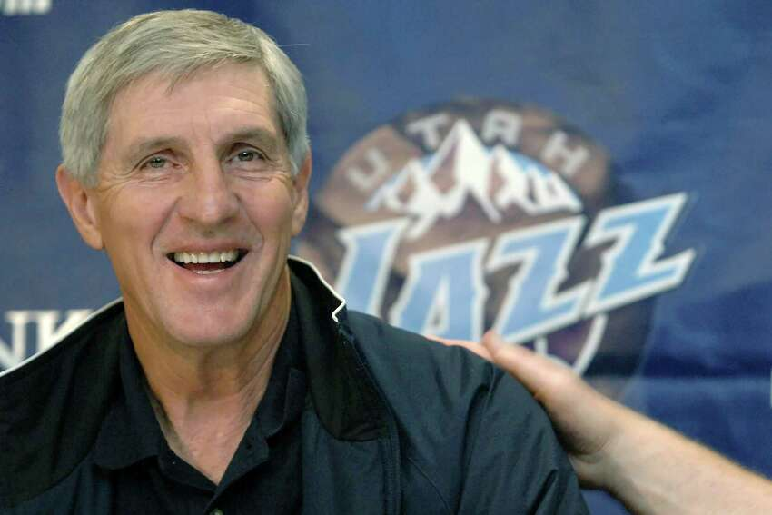 FILE - In this May 12, 2005, file photo, Utah Jazz coach Jerry Sloan smiles during a news conference in Salt Lake City. The Utah Jazz have announced that Jerry Sloan, the coach who took them to the NBA Finals in 1997 and 1998 on his way to a spot in the Basketball Hall of Fame, has died. Sloan died Friday morning, May 22, 2020, the Jazz said, from complications related to Parkinsona€™s disease and Lewy body dementia. He was 78. (AP Photo/Fred Hayes, File)