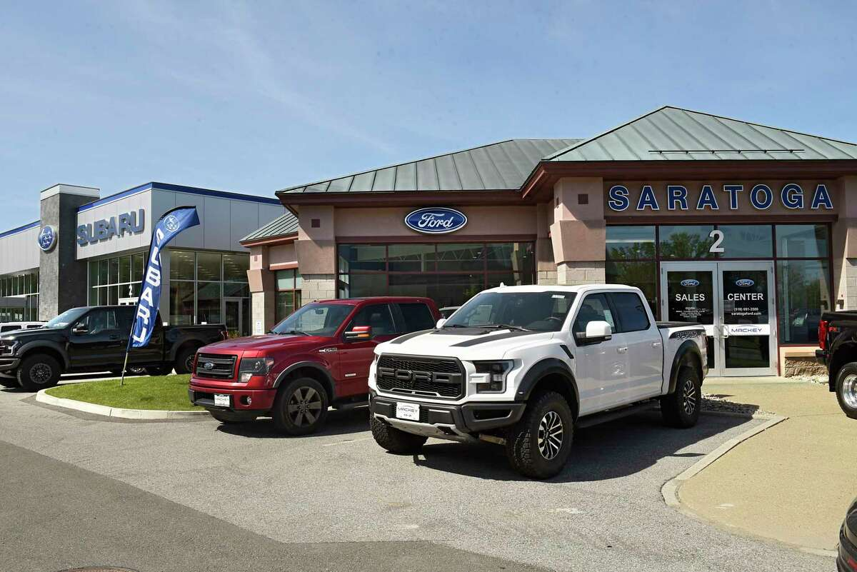 Exterior of Saratoga Ford and Saratoga Subaru on Thursday, May 21, 2020 in Saratoga Springs, N.Y. (Lori Van Buren/Times Union)