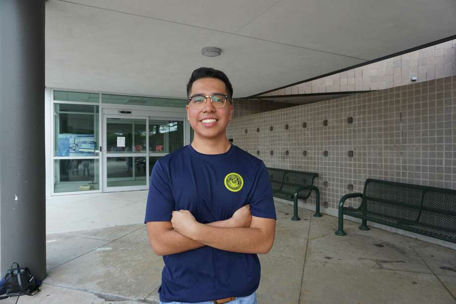 Angel Salvador, a Mayde Creek High School graduate, has enlisted in the U.S. Navy and looks forward to serving as a damage controlman. Photo: Tracy Maness / Staff Photo