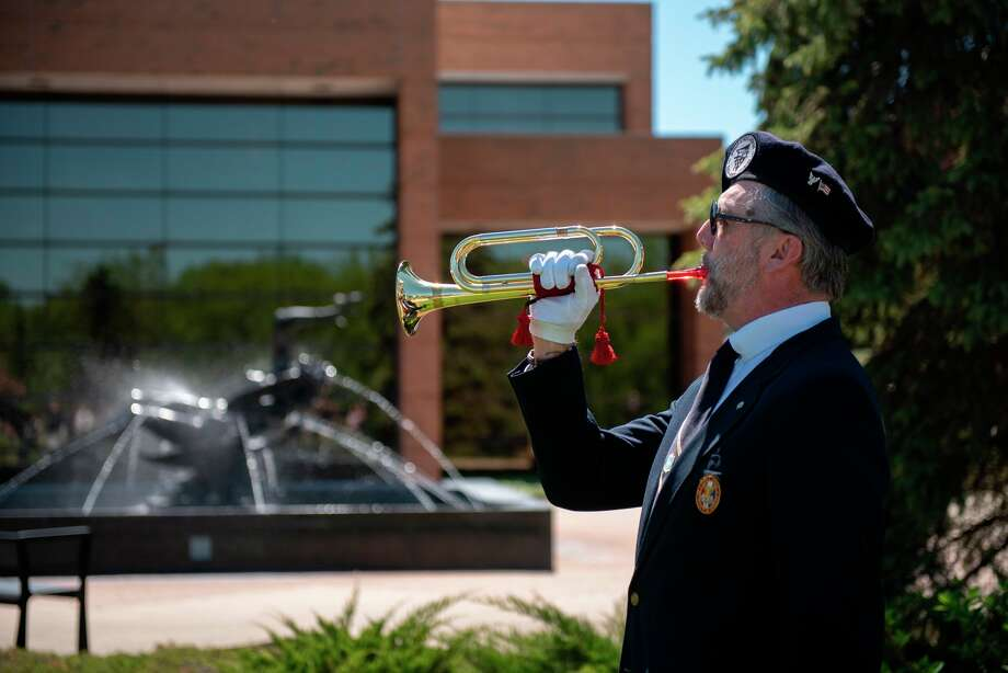 A scene from SVSU's Memorial Day ceremony in May 2019 (Photo provided/Michael Randolph)
