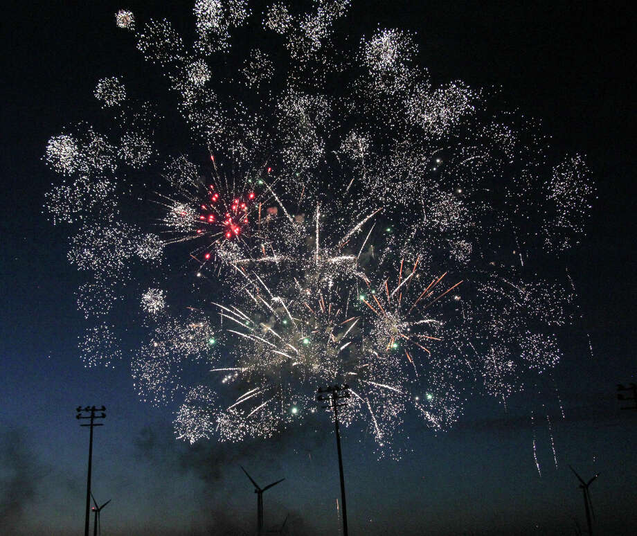 Laker High School celebrated the class of 2020 on Friday evening with a special ceremony, parades through Elkton, Pigeon and Bay Port, and fireworks at the football stadium. Photo: Mark Birdsall/Huron Daily Tribune