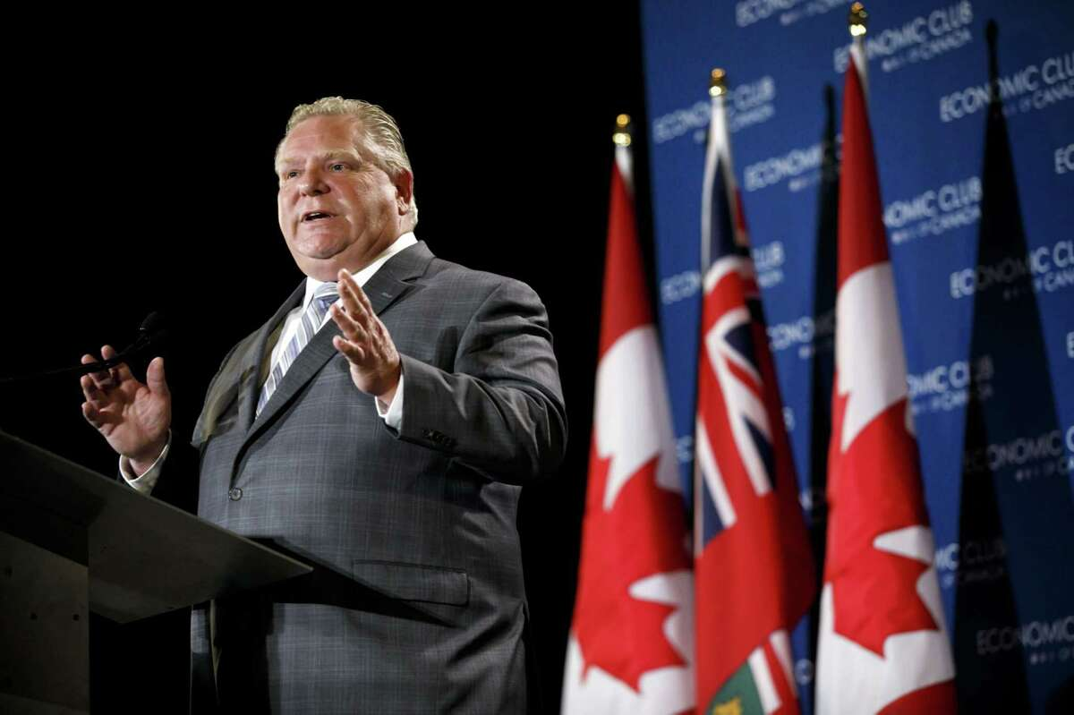 Doug Ford, Ontario's premier, at the Economic Club of Canada in Toronto on Jan. 21, 2019.