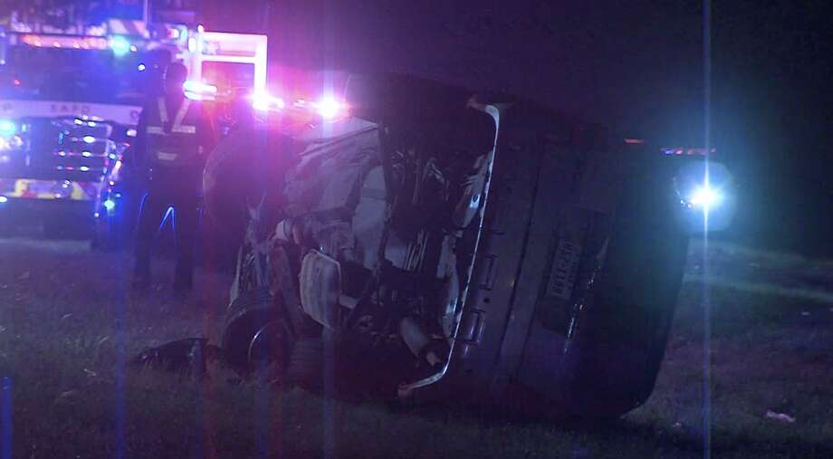 According to SAPD, a woman traveling the wrong way on a North Side highway caused a deadly crash early Saturday morning. Photo: 21 Pro Video