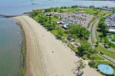 Drone photography of Calf Pasture Beach May 20, 2020, in Norwalk, Conn.