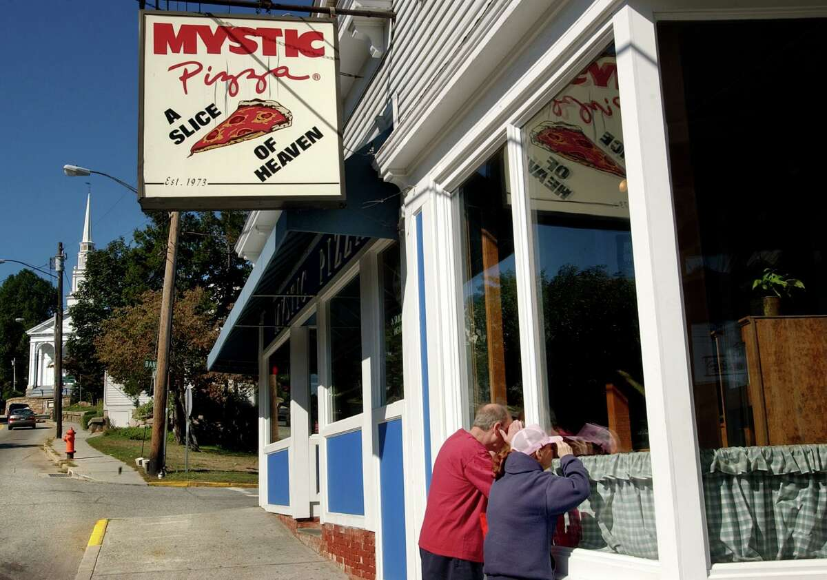 This file photo shows Mystic Pizza in Mystic, Conn. in 2005.