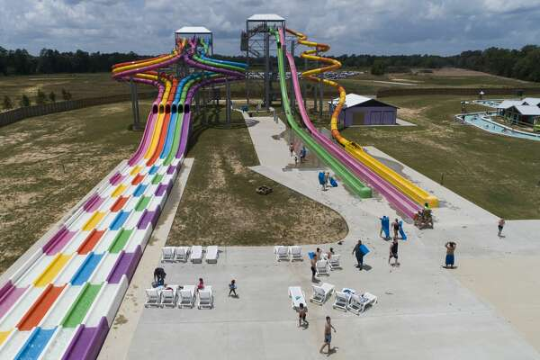 Big Rivers Waterpark is seen, Saturday, May 23, 2020, in New Caney. The waterpark open for the season following Gov. Greg Abbott?•s start of Phase 2 reopening of the economy that began Friday.
