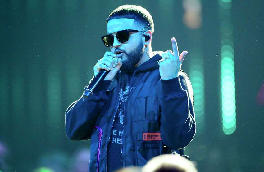 FILE - This March 17, 2019 file photo shows Nav performing at the Juno Awards in London, Ontario, in Canada. Nav's latest a€œGood Intentionsa€ project debuted this week at No. 1 on the Billboard 200 albums chart. (Frank Gunn/The Canadian Press via AP, File)