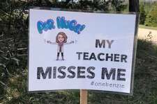 Crystal Lake Elementary teacher Michaela MacGirr delivered these yard signs to each of her students earlier this month.