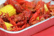 Crawfish are seen during the inaugural Crawfish Critic Cook-Off at Southern Star Brewing, Saturday, May 23, 2020, in Conroe.