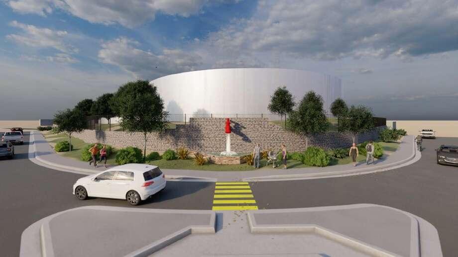 The Lyon Street water tank will undergo a $12.8 million upgrade beginning this fall.    Photo: Courtesy Photo