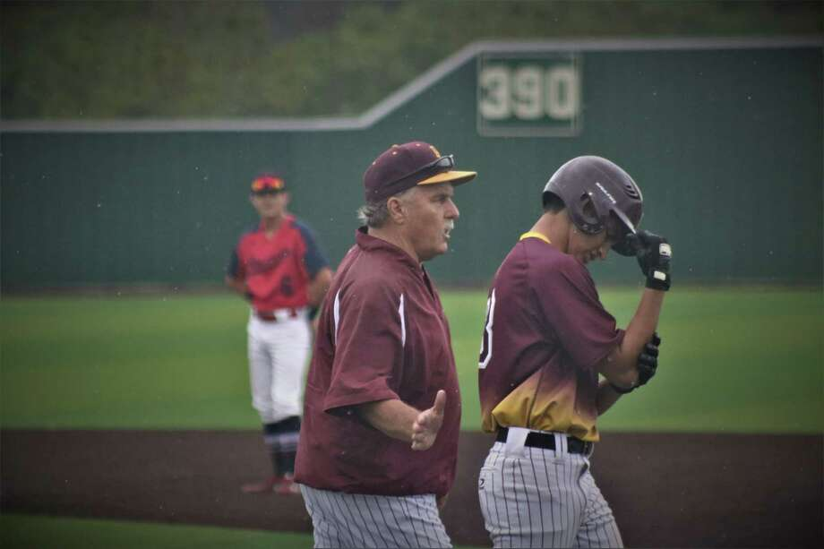 Veteran Deer Park High School head baseball coach Chris Rupp, shown in a 2019 game, feels bad for his seniors, who had the rug pulled out from under them with the onset of the Covid-19 pandemic. Photo: Robert Avery