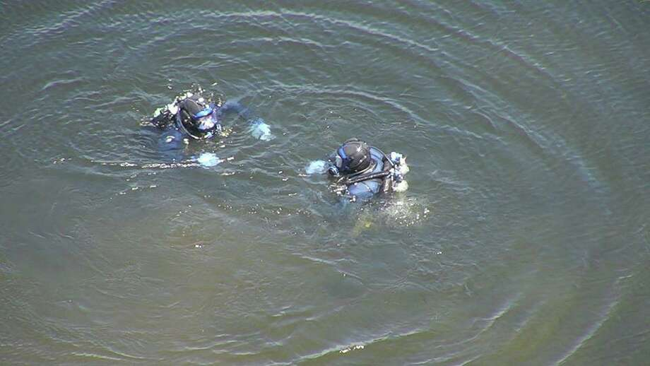 The Fairfield, Conn., police Dive Team during training on Friday, May 22, 2020. Photo: Contributed Photo / Fairfield Police Department