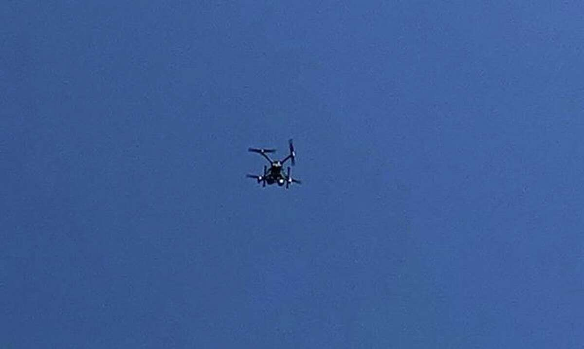 The Dive Team used one of the police department's drones during training on Friday, May 22, 2020.