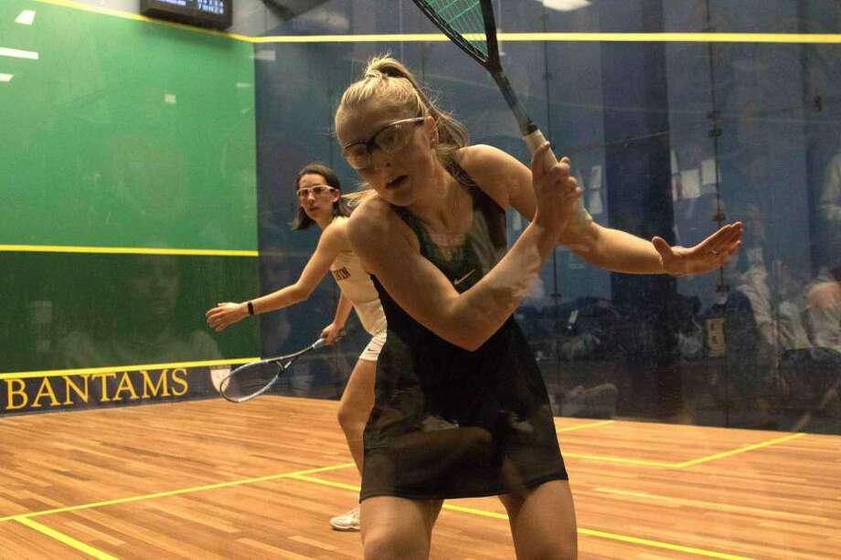 Binney Huffman, who recently concluded her senior year at Greenwich Academy, was selected as a High School All-American by U.S. Squash. Photo: Contributed Photo