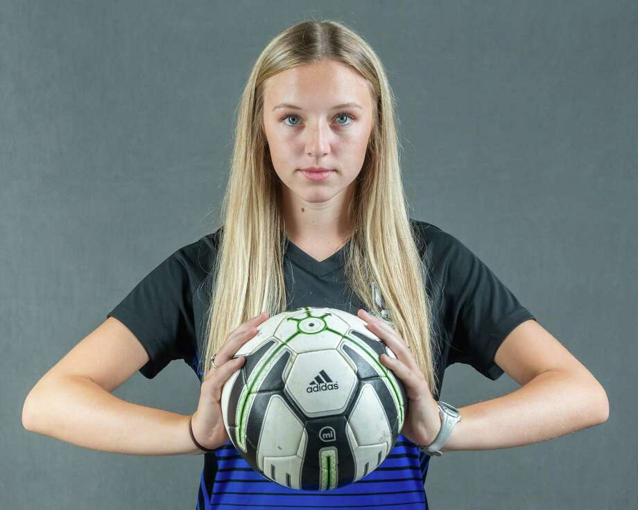Hannah Dockens, a midfielder for West Brook is the 2020 Super Gold Girls Soccer Player of the Year. Photo made on May 21, 2020.  Fran Ruchalski/The Enterprise Photo: Fran Ruchalski, The Enterprise / The Enterprise / © 2020 The Beaumont Enterprise