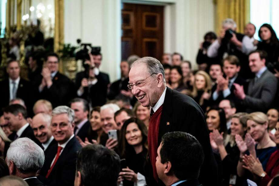 Sen. Charles Grassley, R-Iowa, at the White House in February. Photo: Washington Post Photo By Jabin Botsford / The Washington Post