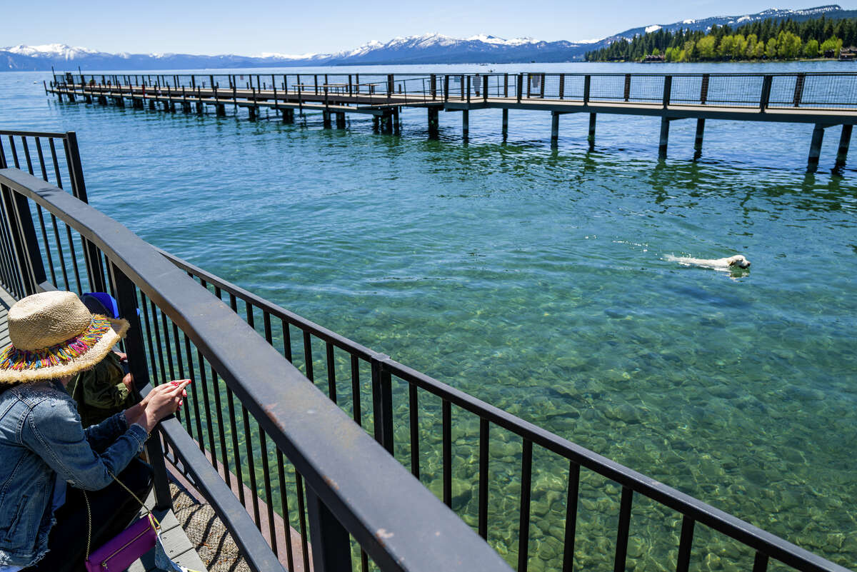 A pretty day at the Tahoe City Marina in May 2020.