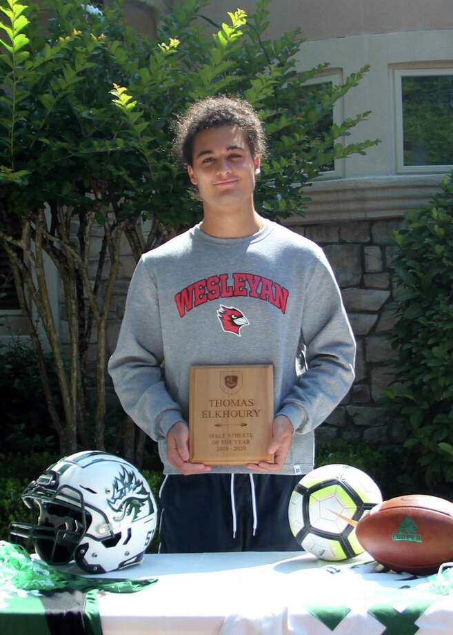 Thomas Elkhoury won the John Cooper Male Athlete of the Year award. Photo: Submitted Photo