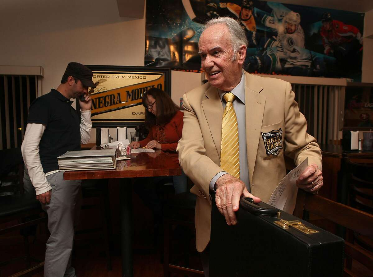 Andy Mousalimas (front), who started the Kings X Fantasy football league, at Grand Oaks restaurant in Oakland, Calif., making draft picks with his grandson Harry Ahlas (left) on Wednesday, October 31, 2012.